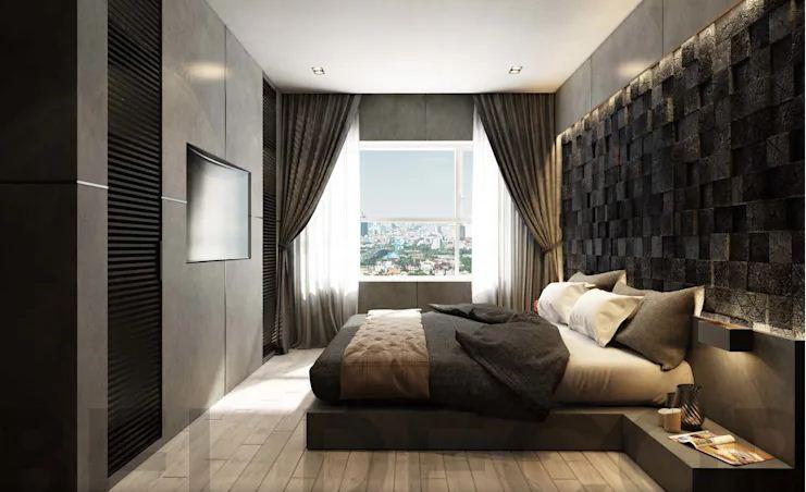 Phòng ngủ Master - Căn hộ cao cấp