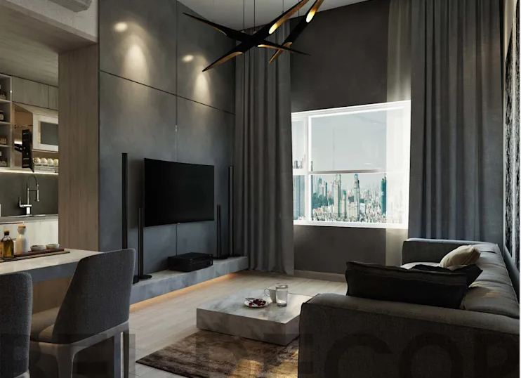 Không gian phòng khách hiện đại - Căn hộ cao cấp