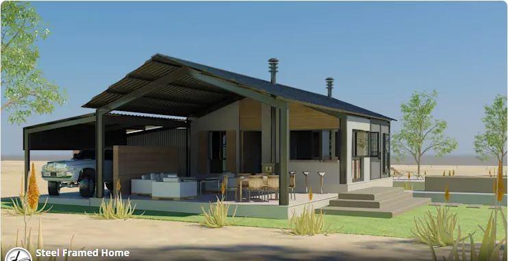 Thiết kế nhà trệt phổ biến khung thép - Nhà xây sẵn