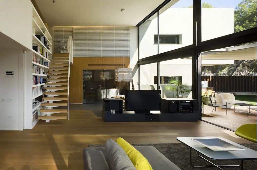 Không gian phòng khách thoáng đãng - Kiến trúc nhà đẹp 2 tầng