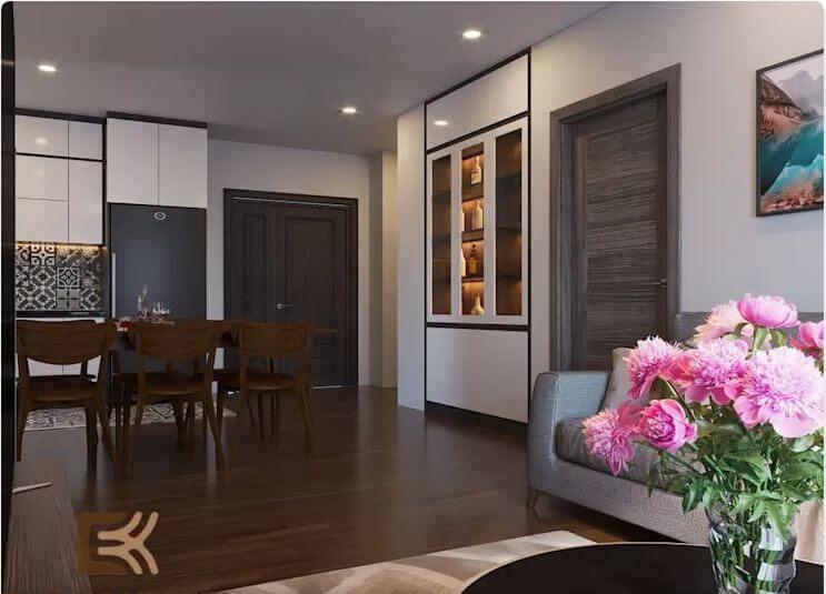Phòng bếp ấm cúng - Thiết kế nội thất chung cư 2 phòng ngủ