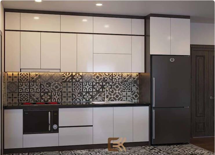 Phòng bếp ấm cúng - Thiết kế nội thất chung cư 2 phòng ngủ - 1