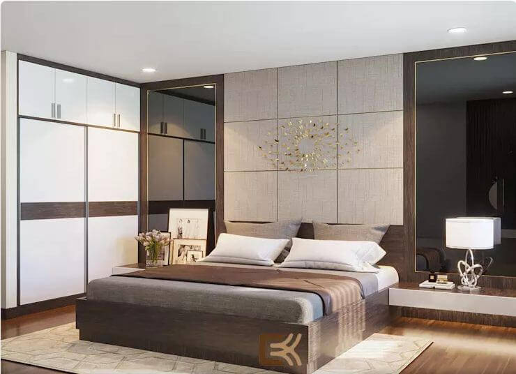 Phòng ngủ Master sang trọng - Thiết kế nội thất chung cư 2 phòng ngủ