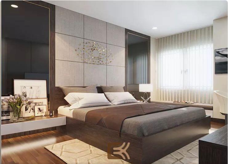 Phòng ngủ Master sang trọng - Thiết kế nội thất chung cư 2 phòng ngủ - 1