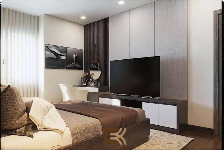 Phòng ngủ Master sang trọng - Thiết kế nội thất chung cư 2 phòng ngủ - 2