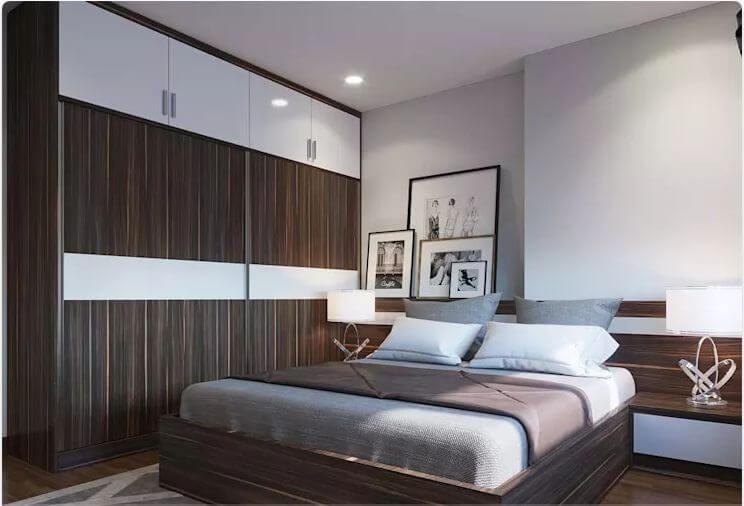 Phòng ngủ 1 - Thiết kế nội thất chung cư 2 phòng ngủ