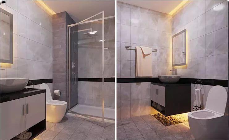 Phòng tắm - Thiết kế nội thất chung cư 2 phòng ngủ