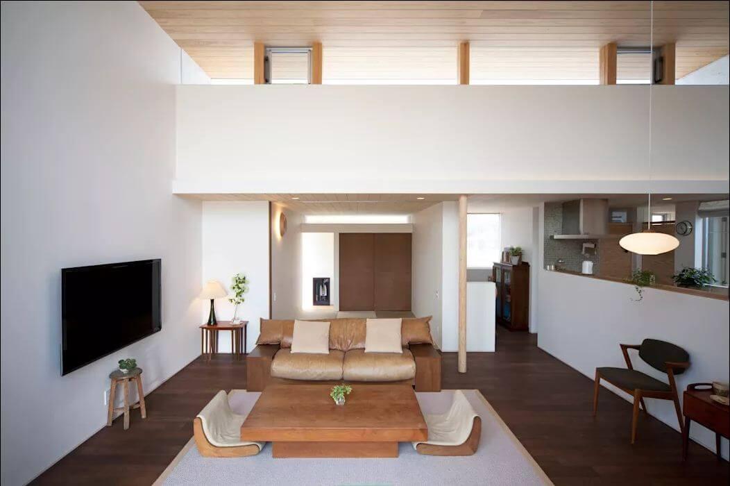 Phòng khách rộng rãi - Mẫu nhà 1 trệt 1 lửng đẹp