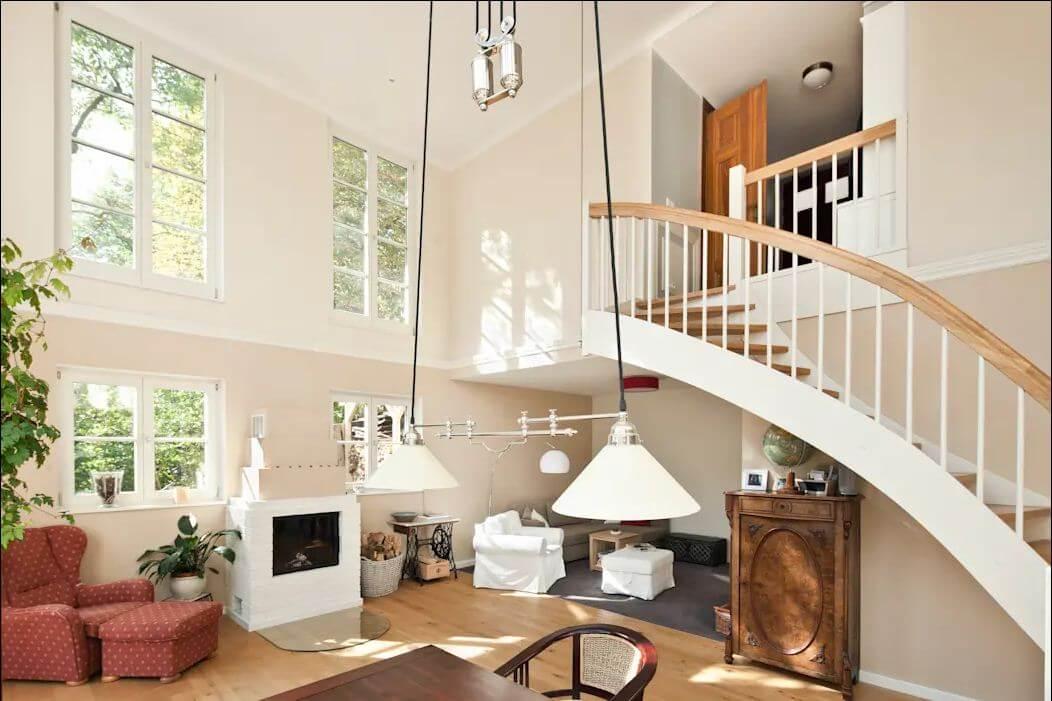 Thiết kế cầu thang hợp lý - Mẫu nhà nông thôn đẹp