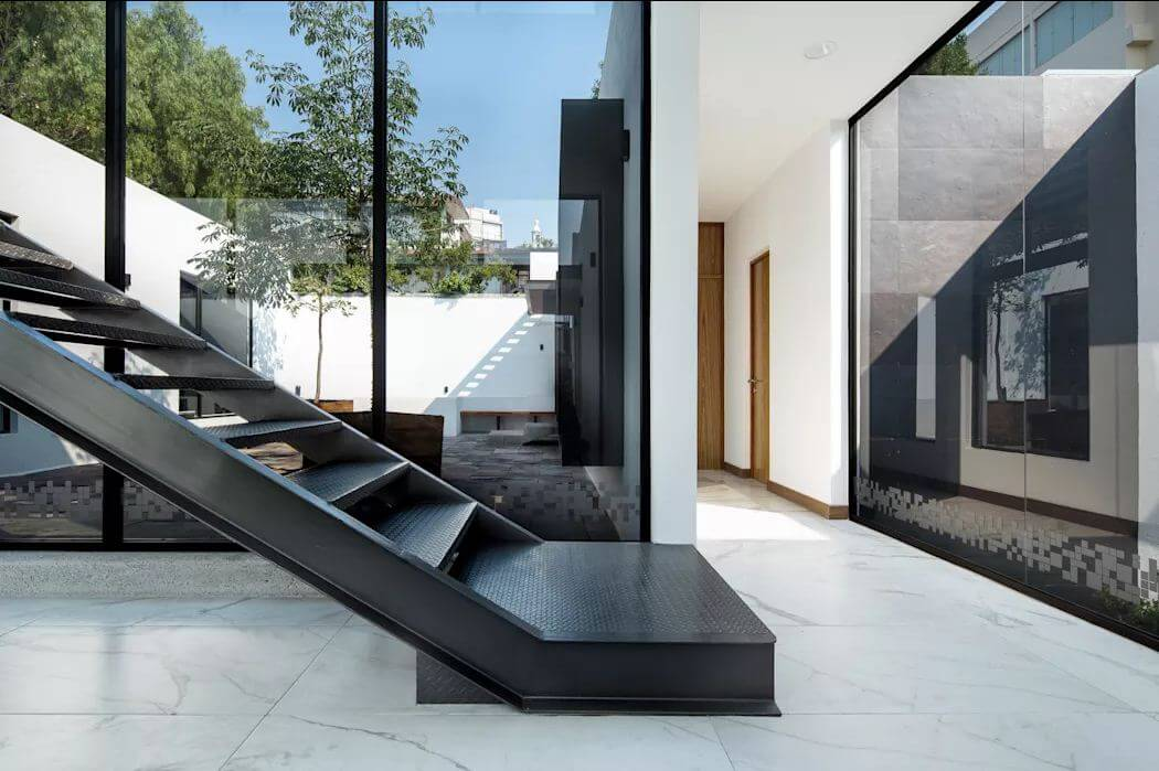 Thiết kế cầu thang hiện đại - Mẫu nhà ống đẹp hiện đại - 1