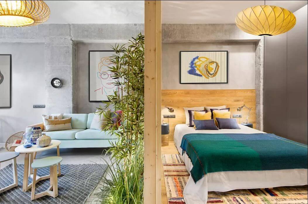 Phòng ngủ sáng tạo - Mẫu thiết kế nhà nhỏ 1 tầng - 1