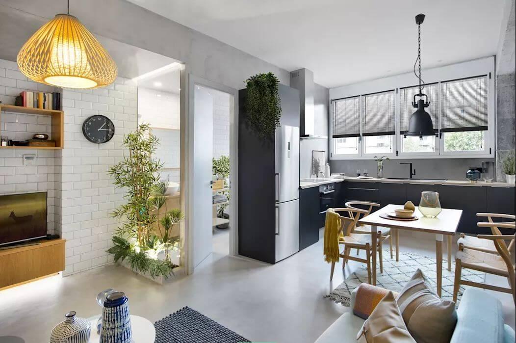 Thiết kế khu bếp ăn - Mẫu thiết kế nhà nhỏ 1 tầng