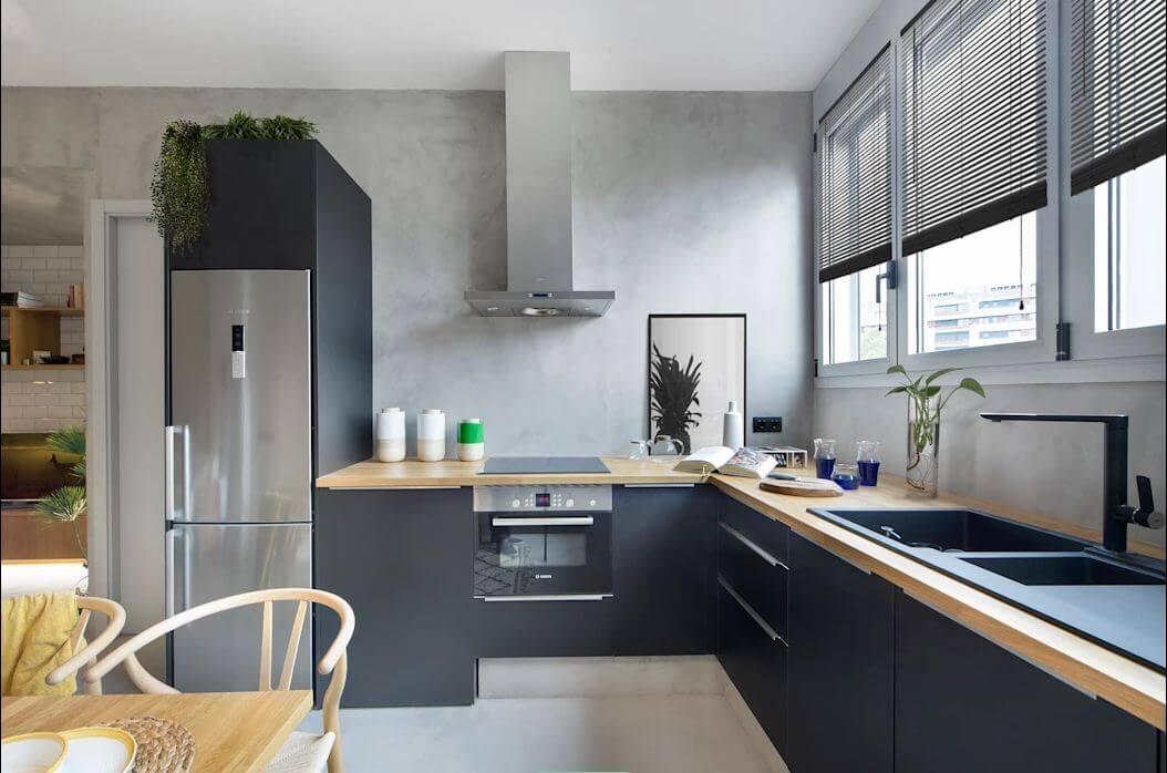 Thiết kế khu bếp ăn - Mẫu thiết kế nhà nhỏ 1 tầng - 1