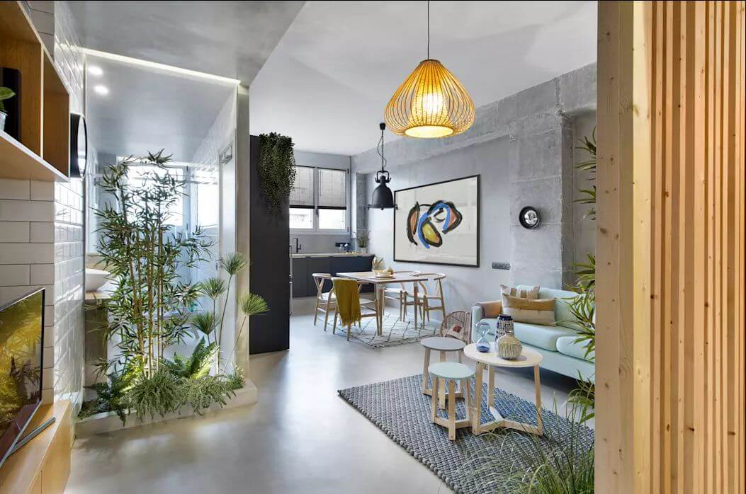 Gam màu trung tính hiện đại - Mẫu thiết kế nhà nhỏ 1 tầng