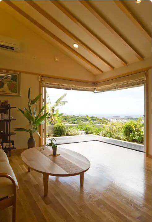 Điểm nhấn tại phòng khách - Nhà gỗ kiểu Nhật
