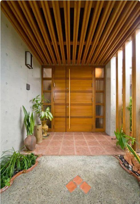 Cửa chính - Nhà gỗ kiểu Nhật