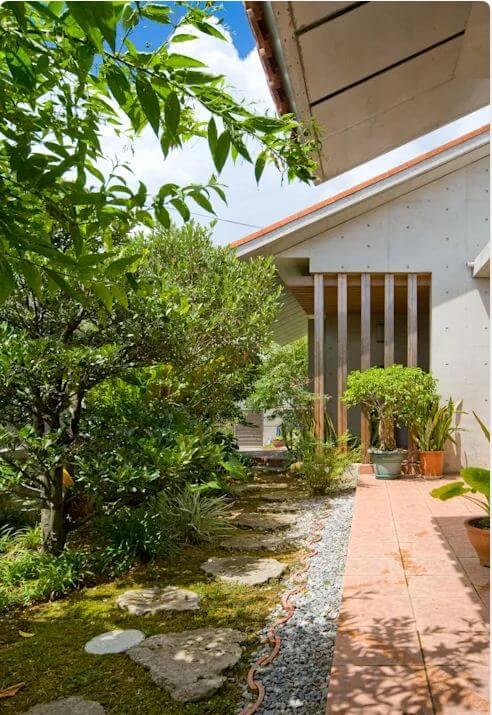 Lối vào nhà - Nhà gỗ kiểu Nhật - 1