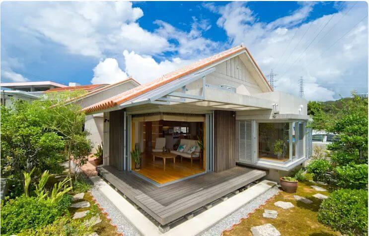 Không gian mở tạo cảm giác chào đón - Nhà gỗ kiểu Nhật