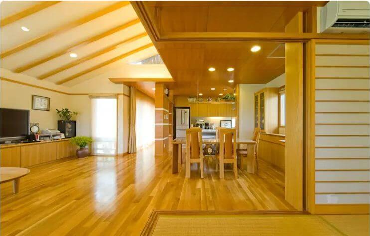 Không gian phòng bếp ấm cúng - Nhà gỗ kiểu Nhật