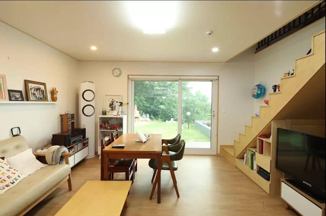 Phòng khách ấm cúng - Nhà văn phòng