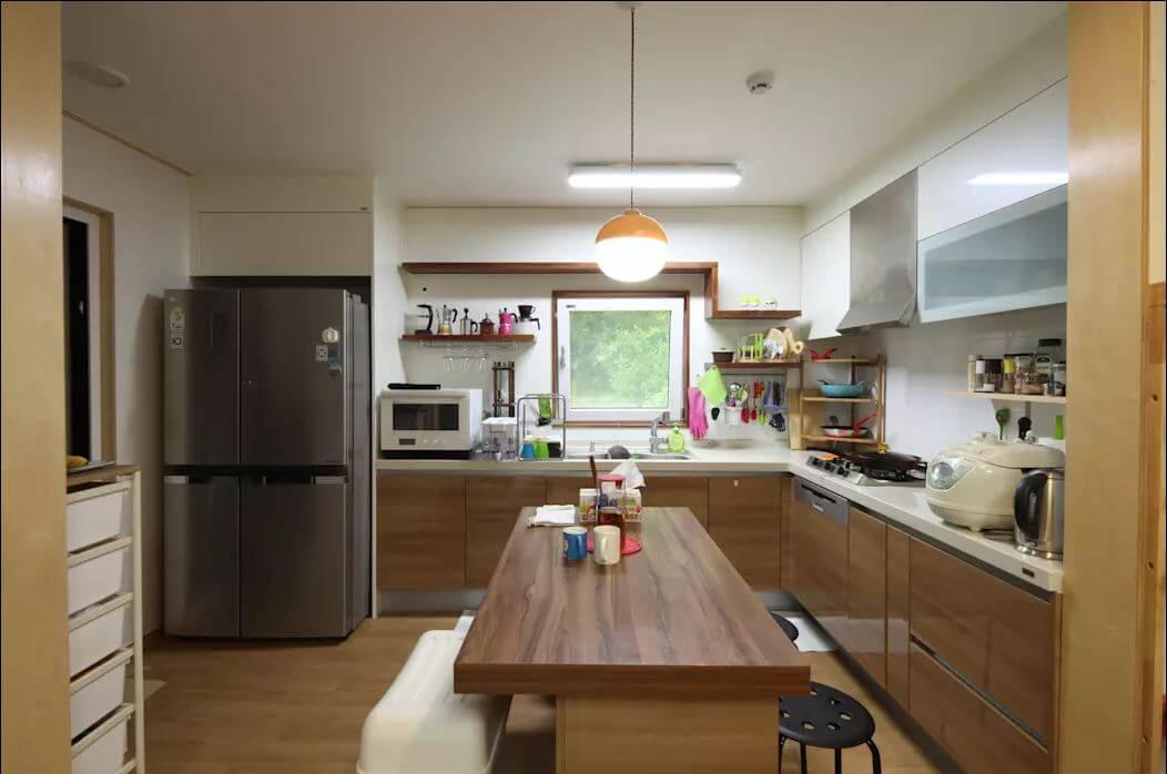 Không gian phòng bếp - Nhà văn phòng