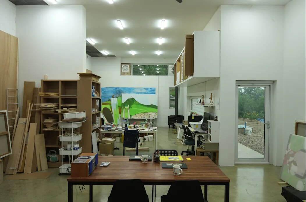 Không gian văn phòng dưới tầng 1 - Nhà văn phòng