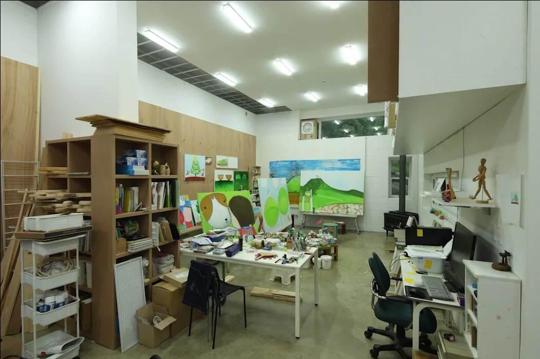 Không gian văn phòng dưới tầng 1 - Nhà văn phòng - 1