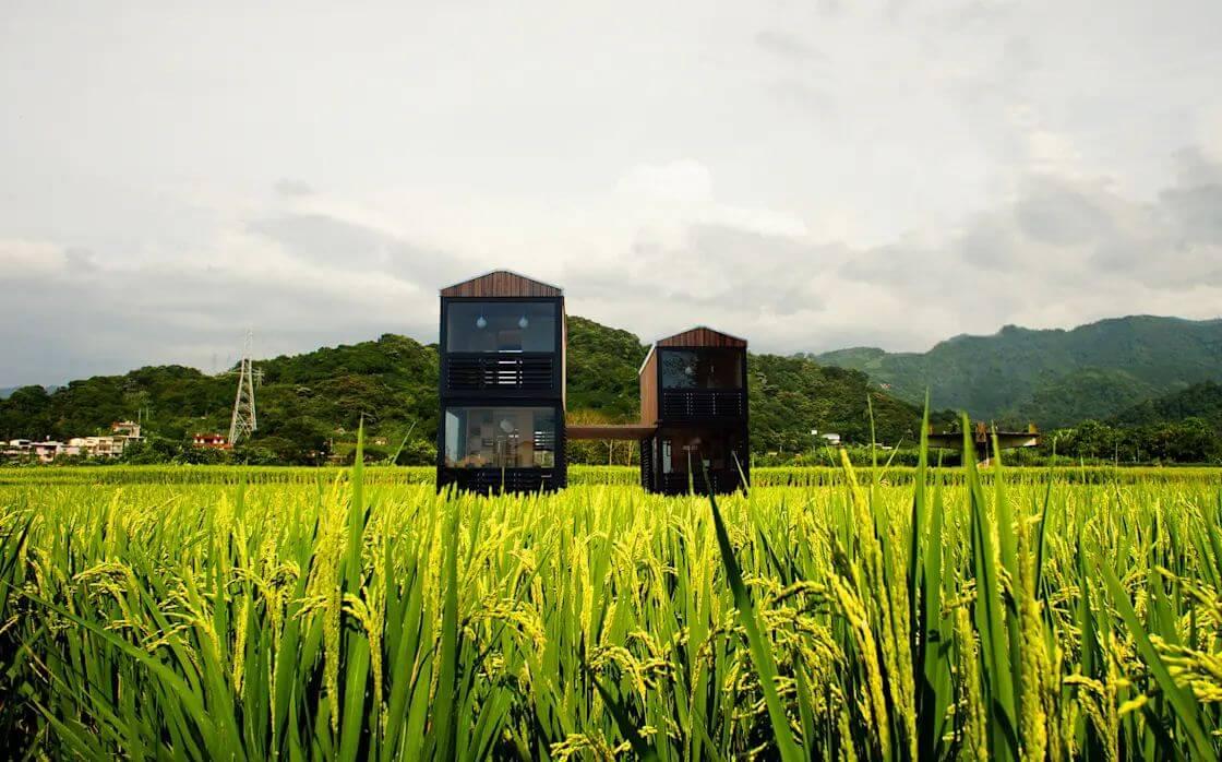 Mẫu nhà nhỏ nhắn giữa cánh đồng - Nhà siêu nhỏ