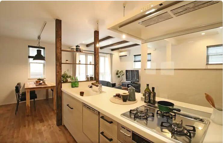 Bếp mở hoàn hảo cho gia đình - Thiết kế nhà nhỏ đẹp