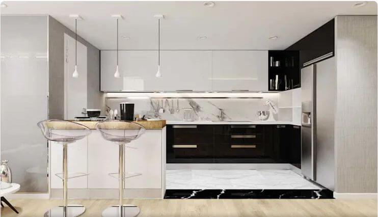 Nhà bếp phong cách Châu Âu hiện đại - Nội thất chung cư