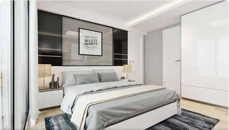 Phòng ngủ sáng sủa, dễ chịu - Nội thất chung cư
