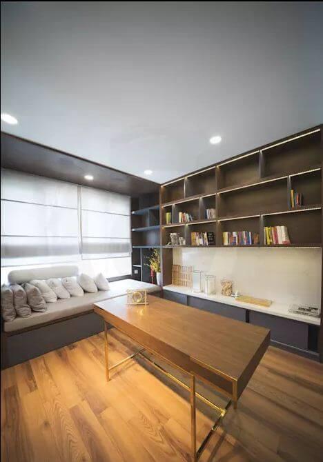 Phòng đọc sách thoải mái - Thiết kế nội thất Penthouse - 1