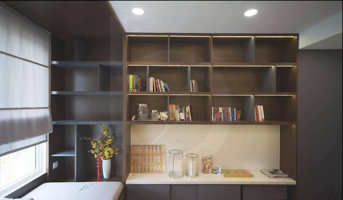Phòng đọc sách thoải mái - Thiết kế nội thất Penthouse
