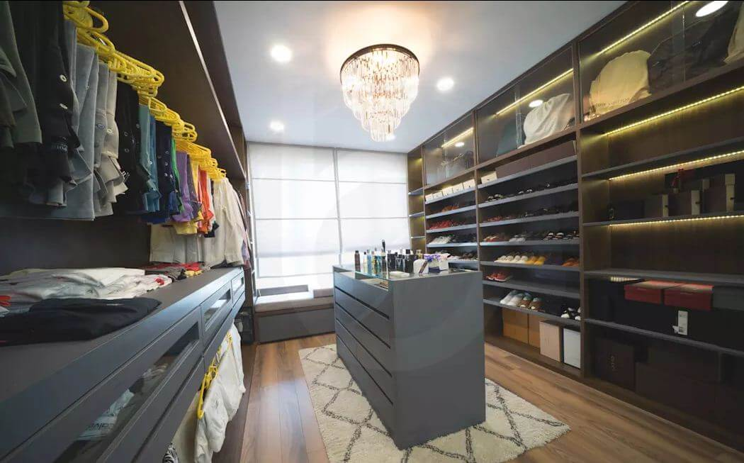 Phòng thay đồ - Thiết kế nội thất Penthouse