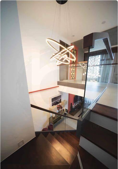 Sử dụng đèn trần làm điểm nhấn - Thiết kế nội thất Penthouse