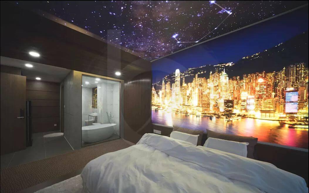 Liên kết với phòng tắm - Thiết kế nội thất Penthouse