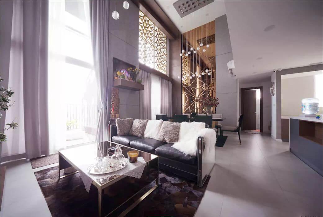 Không gian rộng thoáng - Thiết kế nội thất Penthouse