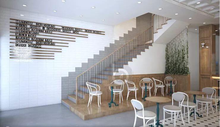 Phong cách kiến trúc pha trộn độc đáo - Thiết kế quán trà sữa đơn giản - 1