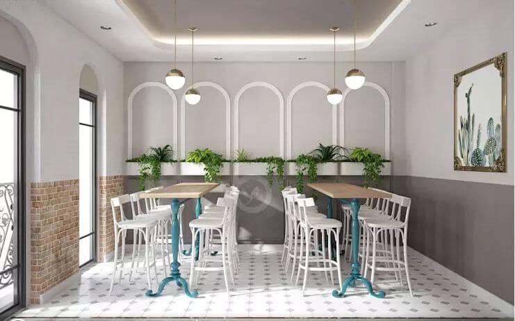 Các phụ kiện trang trí - Thiết kế quán trà sữa đơn giản