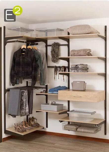 Mẫu tủ quần áo đặt ở góc - Tủ đựng đồ