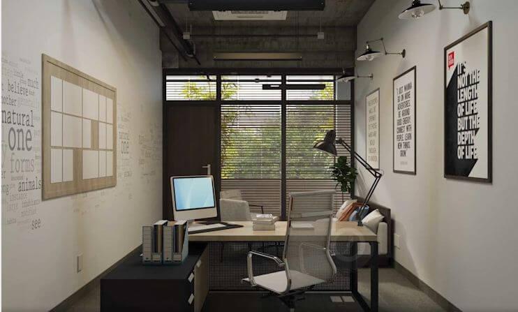 Các thiết kế không gian phòng làm việc dành cho trưởng phòng - Thiết kế văn phòng theo phong cách Industrial - 5