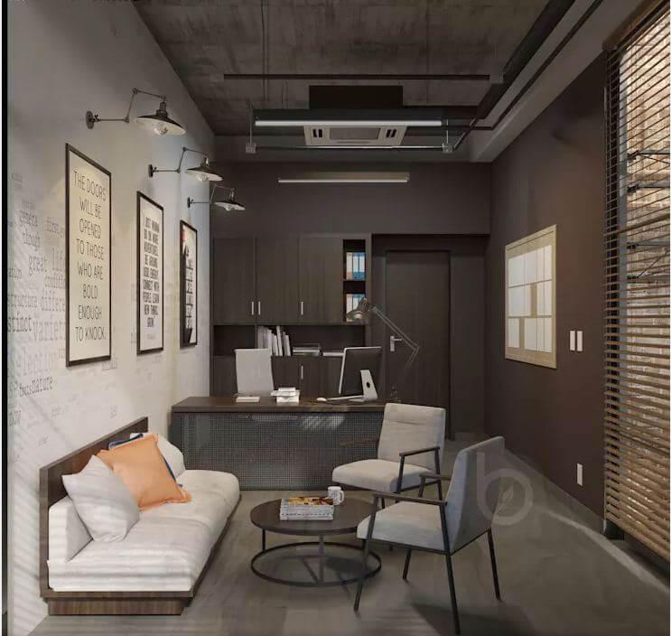 Các thiết kế không gian phòng làm việc dành cho trưởng phòng - Thiết kế văn phòng theo phong cách Industrial - 4