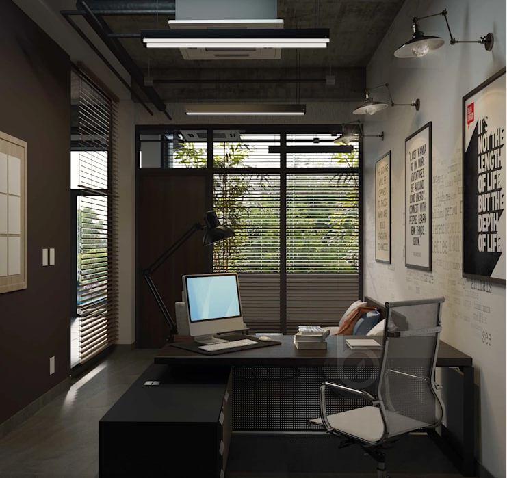 Các thiết kế không gian phòng làm việc dành cho trưởng phòng - Thiết kế văn phòng theo phong cách Industrial - 3