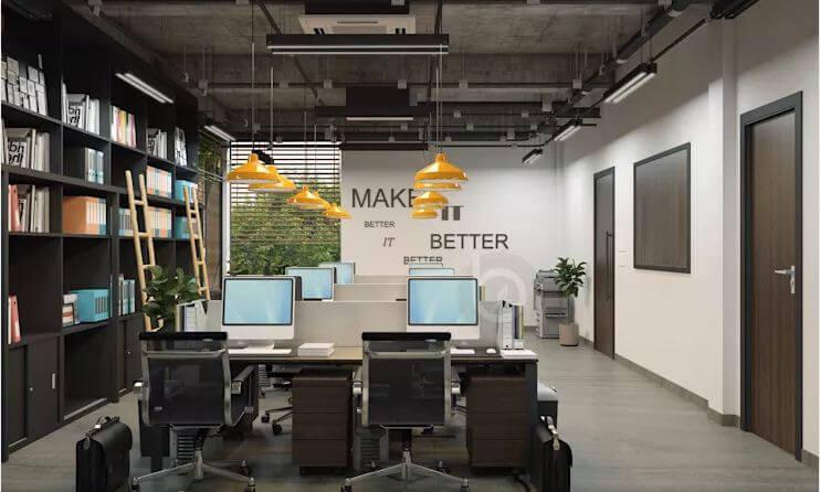 Không gian làm việc hiện đại, tiện nghi - Thiết kế văn phòng theo phong cách Industrial - 1