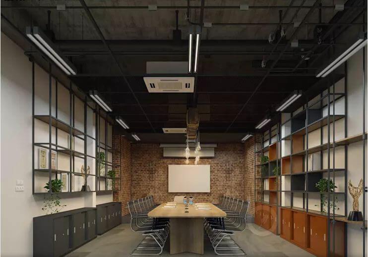 Thiết kế phòng họp - Thiết kế văn phòng theo phong cách Industrial