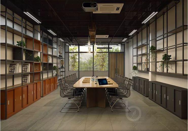 Thiết kế phòng họp - Thiết kế văn phòng theo phong cách Industrial - 1