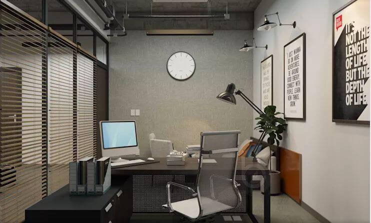 Các thiết kế không gian phòng làm việc dành cho trưởng phòng - Thiết kế văn phòng theo phong cách Industrial - 1