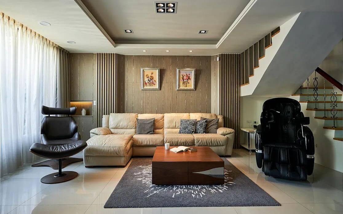 Phòng khách sang trọng - Xây nhà 70m2