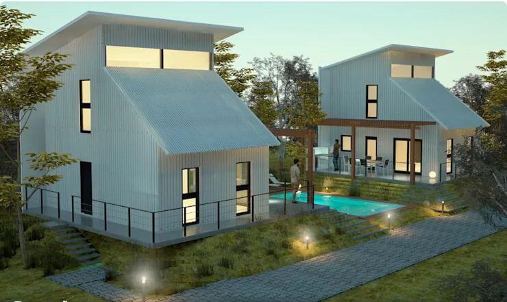 Phối cảnh 3D của dự án xây nhà cấp 4