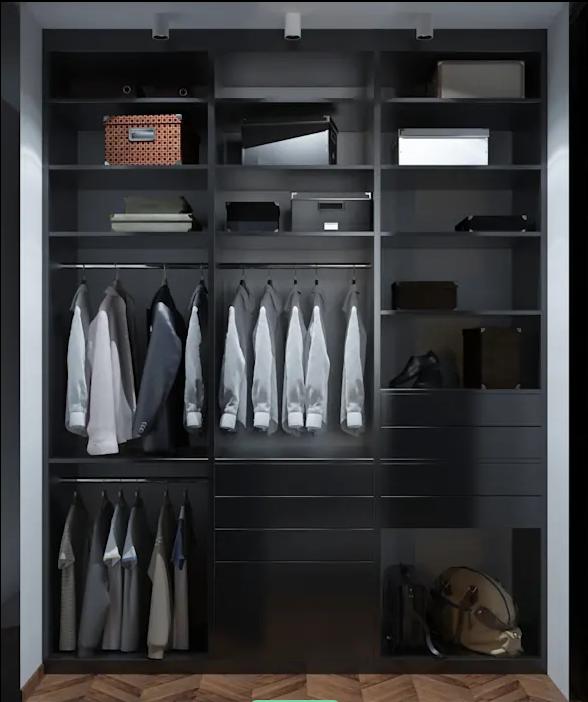 Gỗ tối màu cho ấn tượng nam tính - Tủ quần áo đa năng